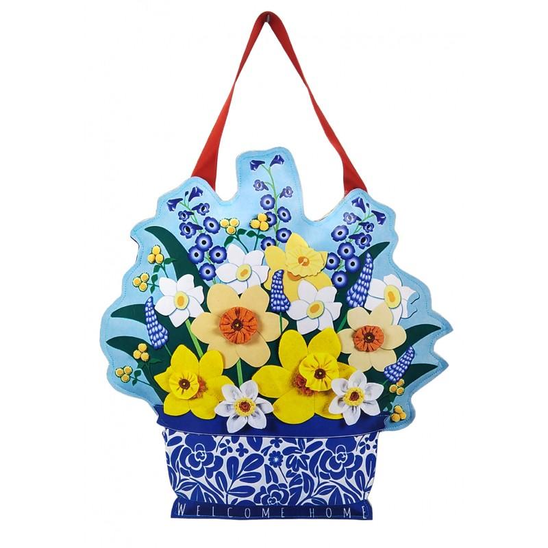 Çiçek Buketi Kapı Süsü